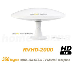 !!! Back in Stock !!! Lava RVHD-2000 OmniPro RV and Marine HDTV Antenna - Up to 100 miles - White