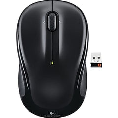 Logitech M325 Wireless Mouse - 2 Buttons 1 Wheel - USB RF Wireless Optical - 1000 dpi - Black - 910-002974