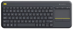 Logitech REFURBISHED Wireless Touch Keyboard K400 Plus - HTPC keyboard for PC connected TVs - 920-007119R