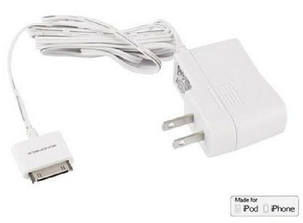 MFI Certified Wall Charger for all 30-pin iPhone and iPod 1A - White, Chargers & Sync Cables, MONOPRICE - TiGuyCo Plus