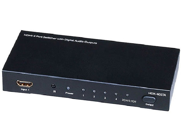 4x1 HDMI Switch with Toslink & Digital Coaxial Port - 3D Support, Audio Cables & Interconnects, TiGuyCo Plus - TiGuyCo Plus