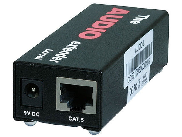 Audio Extender over CAT5e cable up to 300 meter - Black