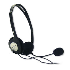 Manhattan Lightweight Stereo Headset with Microphone - 3.5mm Stereo Plug - In-Line Volume - 164429