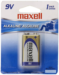 Maxell 9V Alkaline Battery - 6LF22-1BP - 1 pack - 721110