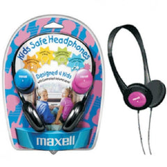 Maxell Kids Safe Headphones - Designed 4 Kids - 3 5mm - 4ft Cord - Changeable Color Caps