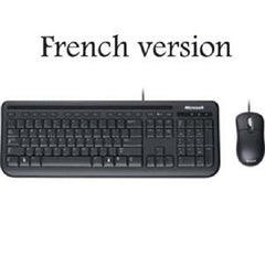 Microsoft Wired Desktop 400 Keyboard & Mouse - French - USB - Black