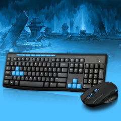 Multimedia HK3800 Wireless 2.4GHz Gaming Keyboard and Mouse Combo Kit - Black