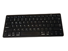 Multimedia Slim Wireless Bluetooth 2.4GHz Keyboard for iPad 2, 3, Android, PC and Laptop - Black