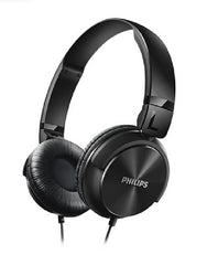Philips DJ Style Studio Headphones - 32mm Driver/Closed Back - On-Ear - Clear and Powerful Bass - 3.9 ft, 3.5mm Cable Black