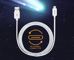PISEN Type C to USB 2.0 Data Charging Cable - 1000mm - White