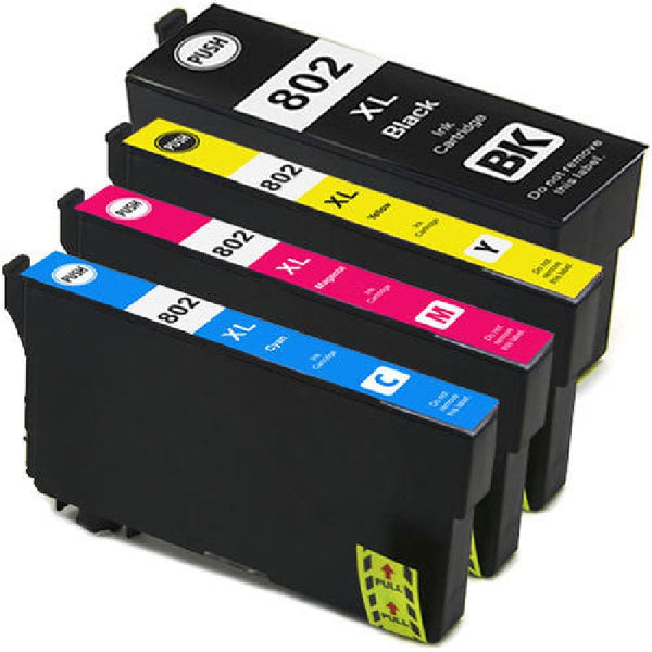 PREMIUM ink - Epson T802XL BK/C/M/Y Compatible Ink Cartridge Combo - High Yield - 4 Cartridges