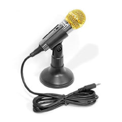 PYLE Kids Vocal Condenser Microphone - For PA Amplifier or Computers - Black - PMIKC20