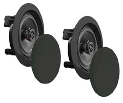 Pyle Home 200 Watts Dual 6.5-inch Speaker System - In-Wall - In-Ceiling, 2-Way, Flush Mount, Black (Pair) - PDIC61RDBK