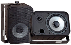 Pyle PDWR50B 500W 6.5'' Indoor/Outdoor Waterproof Speakers - Black - Pair - PDWR50B