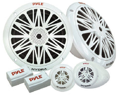 "Pyle Dual 5.25"" - 180W Water Resistant Marine Speaker System Kit, Dual Tweeters, Dual Electronic Crossovers (Sold as Kit) - PLMR5K"