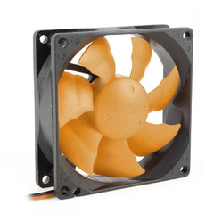 SILENT 80mm 3Pin DC 12V PC CPU Computer Cooling Fan - Orange