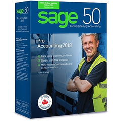 !    A    !    Sage 50 Pro Accounting 2018 - Bilingual - 1 User License - CPRO2018CSRT
