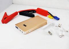 Slim Multi-Function Power Vault - Auto EPS Jump Starter and Mobile Power Bank 8000mAh - Gold