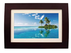 "!!! A New Addition !!! Sylvania 10"" Digital Multi-Media Photo Frame - LED 16:9 Panel - Wood Frame with Remote - Built-in-2GB Memory - SDPF1089"