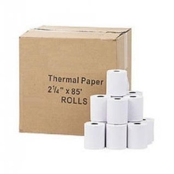 "!  A  ! Thermal Paper Rolls, 2-1/4"" x 85' - Per Roll - 10+ Rolls or 50+ Rolls - White, Thermal Paper, Various - TiGuyCo Plus"