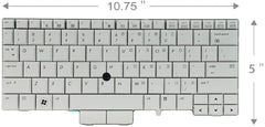 US-Canada Keyboard HP-597841-001 for HP Elitebook 2740p - English - USED - Grade A