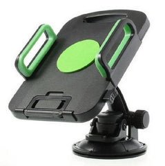 Universal 360-Degree Rotating Tablet PC Car Holder - Black and Green
