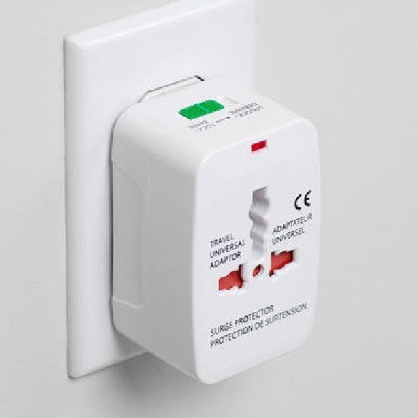 Universal Travel AC Adaptor All in One UK/US/AU/EU/CA Multi Plug - White, Travel Adapters & Converters, Various - TiGuyCo Plus