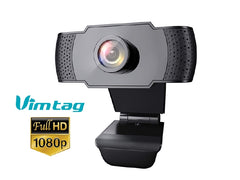 Vimtag Portable Webcam 2MP - 1080P HD With Microphone for Video Calls - USB - Plug and Play