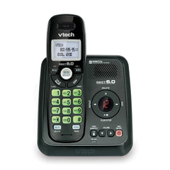 Vtech Cordless Answering System with Caller ID/Call Waiting - Black - S6124-11BK
