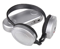 Wireless Hi-Fi Headphones - FM Radio Receiver Headset with Transmitter - Silver
