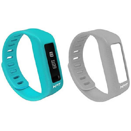 XTREME XFit Bluetooth Activity Tracker Watch - LIVE.TRACK.INSPIRE. - Turquoise & Grey