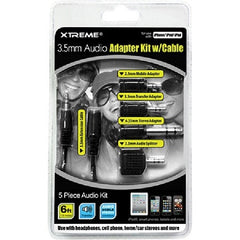 !     A     !    Xtreme 3.5mm Audio Cable with Adapter Kit - 5 Pieces - 50655