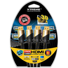 6ft. Xtreme 2 Pack Combo HDMI v1.4 Cable - Black