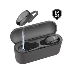 iLuv True Wireless Bluetooth Stereo In-Ear Fitness Earbuds with Charging Case - TRUEBTAIRBK