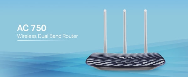 tp-Link AC750 Wireless Dual Band Router Archer C20 - 300Mbps + 433Mbps Dual Band Wi-Fi - Black