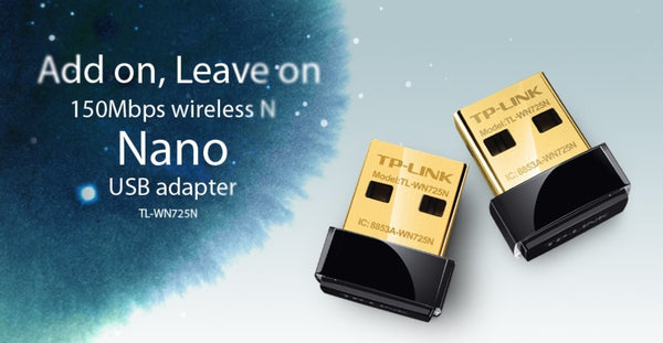 !  A  ! TP-LINK 150Mbps Wireless N Nano USB Adapter - TL-WN725N, Wireless Adapter, TP-LINK - TiGuyCo Plus