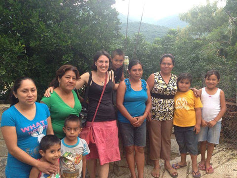 Project manager Nina meeting the fair trade producers in near Taxco, Mexico.