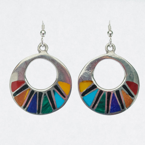 Mexican Earrings Round Multicoloured