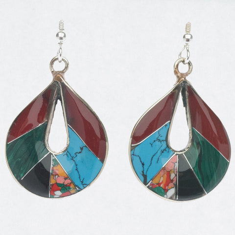 Mexican Earrings Wide Teardrop