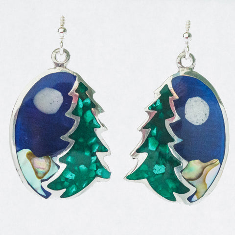 Mexican Earrings - Tree Christmas