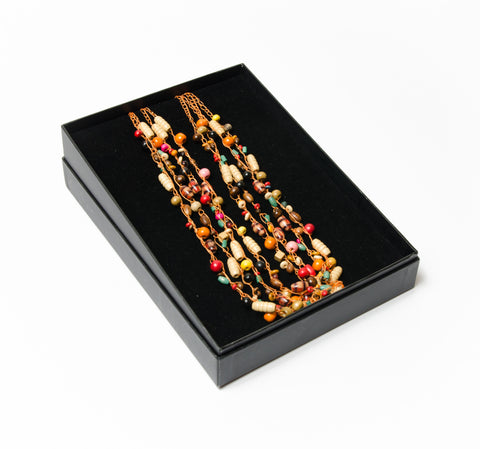 Jnoubi Multicoloured Bead 4 Strand Necklace