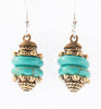 Jnoubi Brass and Bead Earrings