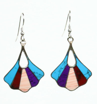 Mexican Earrings Scallop Fan