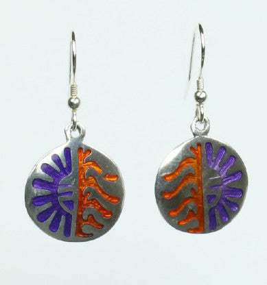 Mexican Earrings Sun and Moon