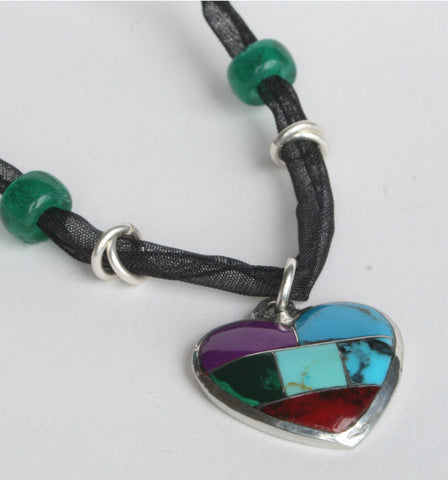 Mexican Jewellery Heart Pendant Necklace