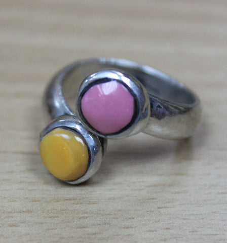 Dual Orange & Pink Ring - Adjustable