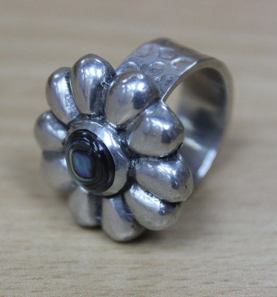 Abalone Flower Ring