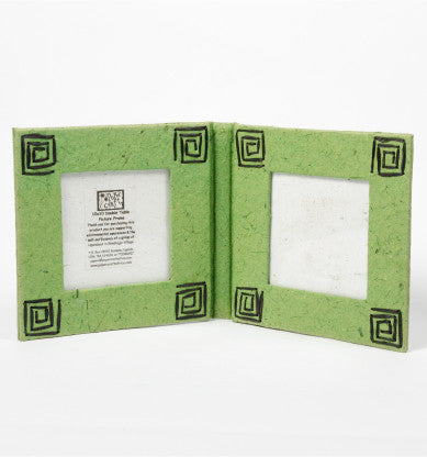 Paper Craft Double 10x10cm Photo Frame