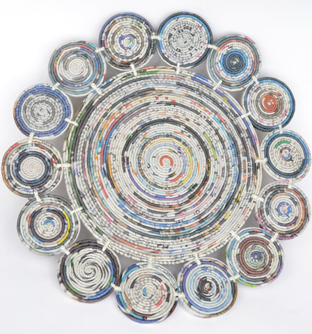 Large Round Newspaper Tablemat