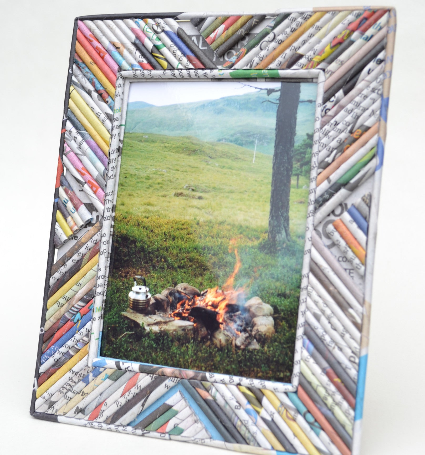 Recycled Newspaper Photo Frame – Fair Grounds